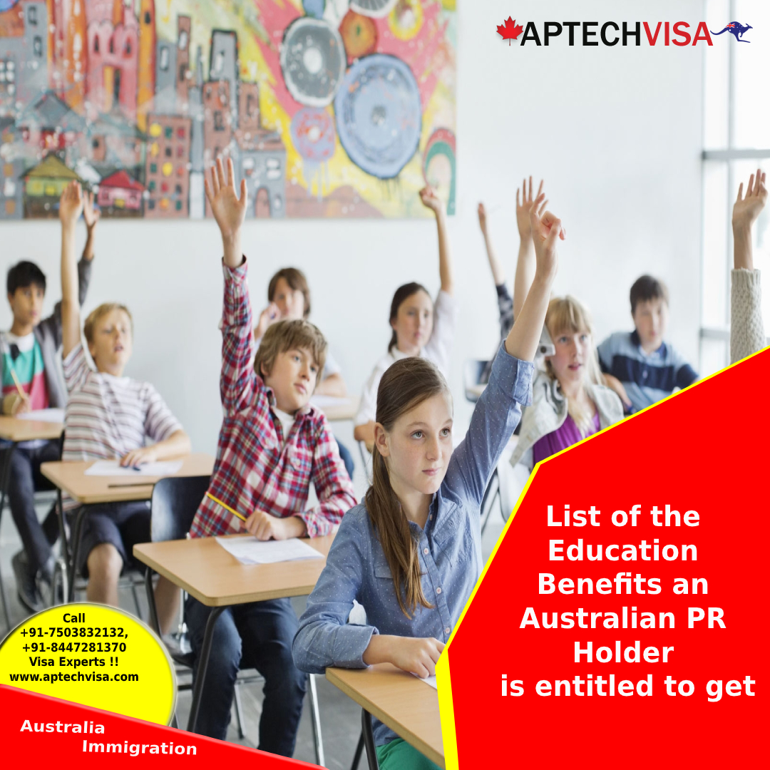 List of the Education Benefits an Australian PR Holder is entitled to get